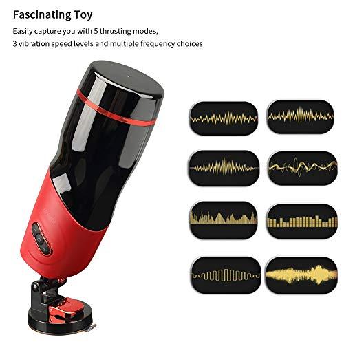 Aorgasms Automatischer Vibrations massagegerät Cup Teleskopischer Rotations mit Stossfunktion 5 Vibrationsfrequenzen Stimme Süße Schönheit frauenstimme