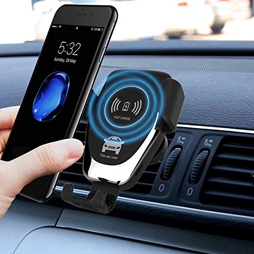 10W with Galaxy Note 9 S9 S9 Plus Note 8 and Qi Enabled Devices 18W Car Charger Included Fast Wireless Car Charger Mount ELLESYE Car Phone Holder 7.5W Compatible with iPhone Xs//XS Max//XR//X//8//8 Plus
