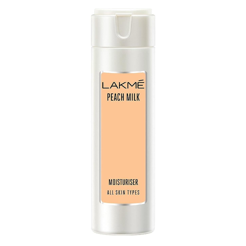 アシスタント硬さ委任するLakme Peach Milk Moisturizer Body Lotion, 120ml