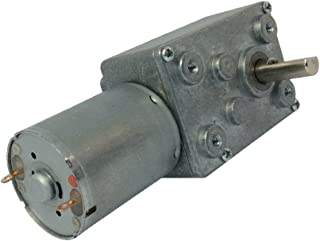 BEMONOC Reversible 12 V DC Worm Geared Motor 45 RPM with Shaft 6mm
