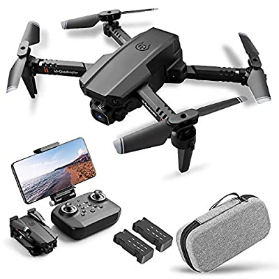 Drone with Camera 4K,Drone Dual Camera Track Flight Gravity Sensor Gesture Photo Video Altitude Hold Headless Mode RC Quadcopter for Adults Kid by Goolsky