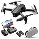 Goolsky Drone RC con cámara 4K Drone Cámara dual Track Vuelo Sensor de gravedad Gesto Foto Video Altitud Modo sin cabeza RC Quadcopter para adultos Niño