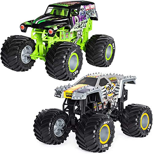 MJ Official Grave Digger Monster Truck Bundled with Max-D, Die-Cast Vehicle, 1:24 Scale