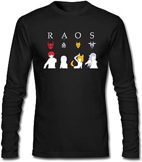 Hefeihe DIY RWBY RAOS Team Logo Men's Long-Sleeve Fashion Casual Cotton T-Shirt