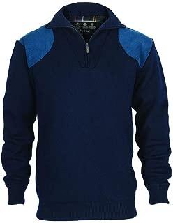 Barbour Storm Men's Merino Wool Waterproof Zip Neck Sweater - Navy