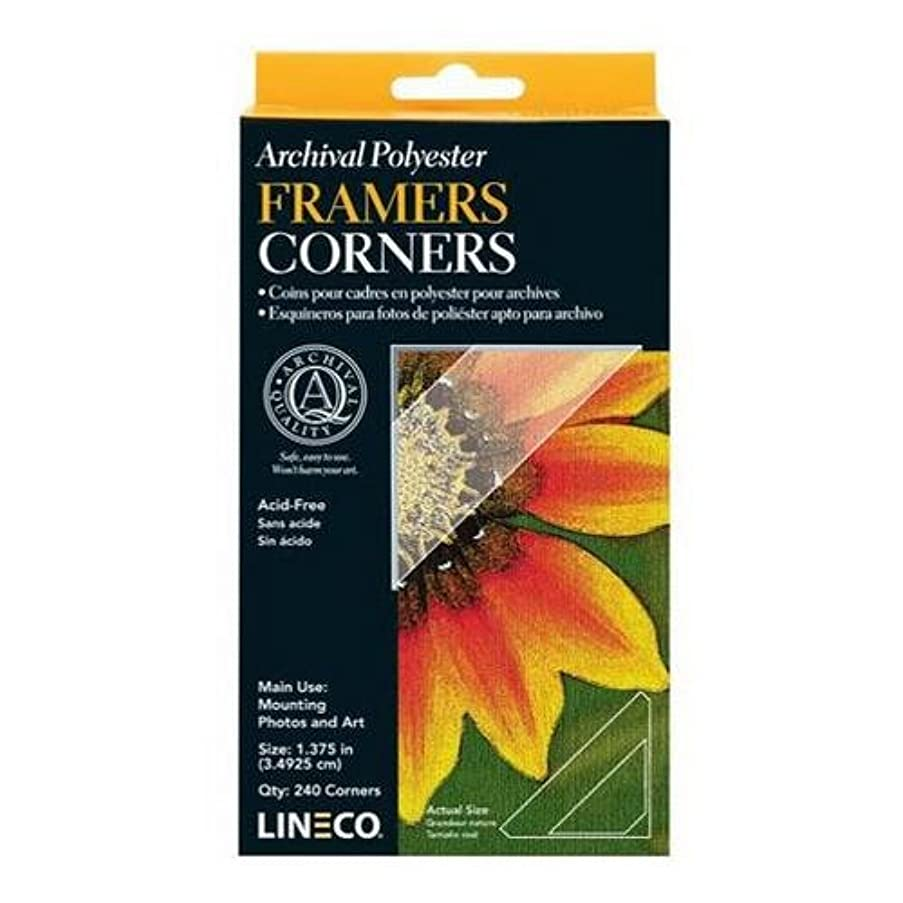 Lineco Archival Polyester Mounting Corners 1.375 Inches Pack of 240 Pressure Sensitive Adhesive
