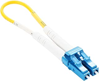 ipolex Fiber Optic Loopback Cable, Singlemode LC Connectors, 9/125