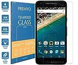 PREMYO Cristal Templado Protector de Pantalla Compatible con Nexus 5X Dureza 9H Bordes 2,5D Sin Burbujas contra Arañazos