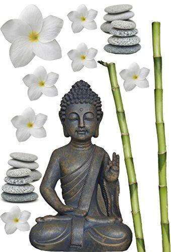Kleine Wolke 1917271837 Deco Element Buddha Farbe Taupe Größe 23 x 34 cm