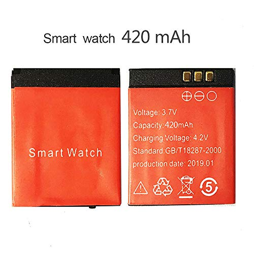 380 mAh/420 mAh high Smart Watch Battery for DZ09/A1/GT08/Q60 Watch LQ-S1/AB-S1/RYX-NX9/ and Other Universal Batteries (420mAh)