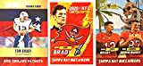 Tom Brady Football Card Lot - 2000 Rookie Phenoms - 2020 Rookie Gems Tampa Bay Buccaneers - 2020 Tom Brady, Rob Gronkowski Together Again (Custom Made Novelty Football Cards)