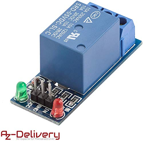 AZDelivery 1-Relais 5V KF-301 Modul Low-Level-Trigger für Arduino