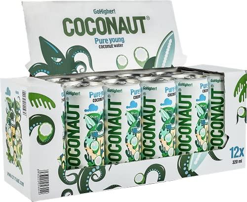 COCONAUT Kokoswasser - 100% junge Kokosnüsse - erfrischend, kalorienarm, vegan, gesund & isotonisch - 12 x 320 ml pfandfreie Dose