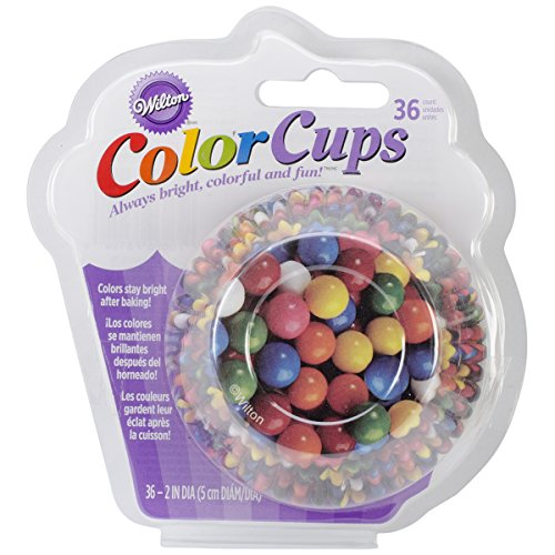 Wilton Standard Real Photo Clear Baking Cups, Gumballs, 36-Pack