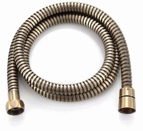 Tubo per doccia – Flessibile doccia acciaio inox colore bronzo 1,70 m