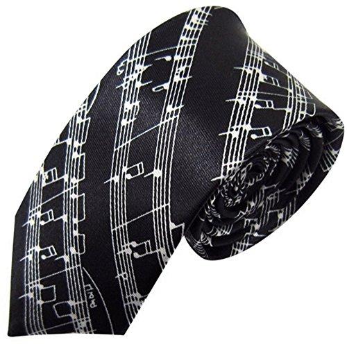ZSRHH-Neckchiefs Halstücher Herren Krawatte für College Style Casual Note Letters Printed Schmale Krawatte