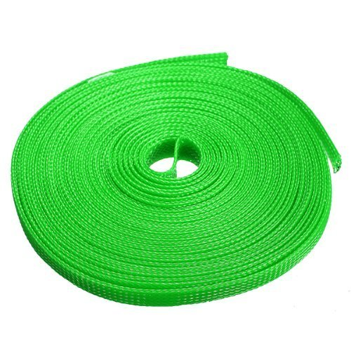 6mm expanding braided cable wire sheathing sleeve sleeving harness 4 color  choice 10m(32 8feet
