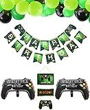 PIXHOTUL Videospiel Party Zubehör Happy Birthday Gaming