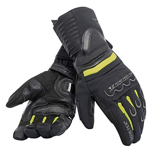 DAINESE Scout 2 Unisex Gore-Tex Gloves, Guanti Moto Touring Invernali Impermeabili Compatibili Per Touch Screen, nero giallo fluo nero, xxl