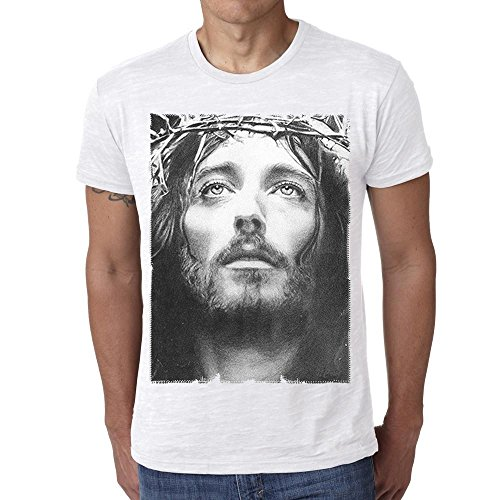 One in the City Jesus Christ: Men's T-Shirt Celebrity Star, Blanc, L