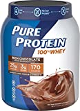 Pure Protein Powder, Whey, High Protein, Low Sugar, Gluten Free, Rich Chocolate, 1.75 lbs