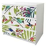 banjado Möbelfolie passend für IKEA Malm Kommode 3 Schubladen | Möbel-Sticker selbstklebend | Aufkleber Tattoo perfekt für Wohnzimmer und Kinderzimmer | Klebefolie Motiv Florentiner...