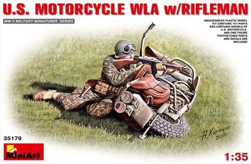 MiniArt 1: 35Escala Kit de construcción EE. UU. WLA de Moto con Rifleman (Multicolor)