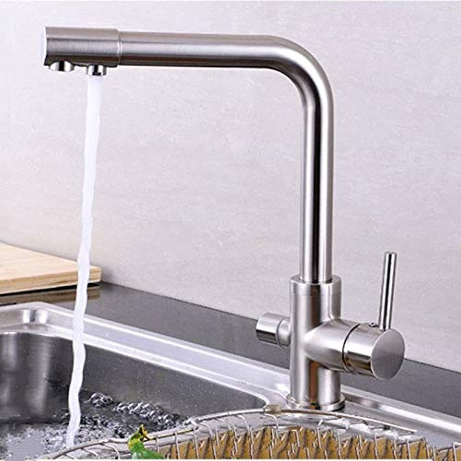 redOOY Taps Antique Silver Faucet Kitchen Sink Pure Water Faucet