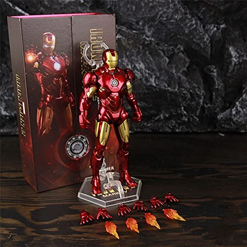 LIANGLMY Figur Neue 2020 Classic Iron Man MK4 Mark IV 7'Film Action Figure Ironman Mark 4 Tony Stark Legends Toys Puppe (Color : MK4 A - Boxed)
