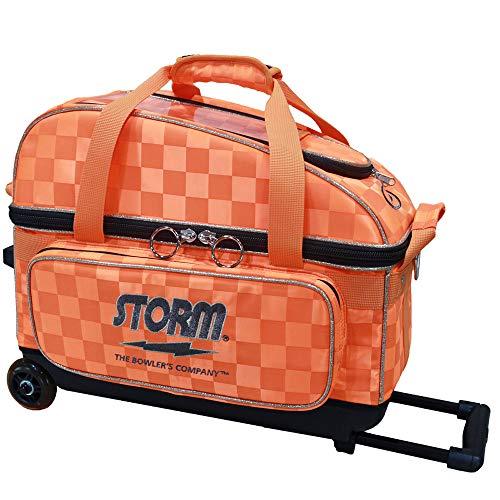 STORM SB139-DC 2 ボール ボウリング キャリー コンパクト バッグ ストーム ボウリング用品 ボーリング グッズ (オレンジ+ゴールド)