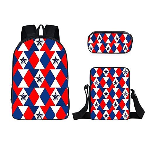 Maksim-003 - Mochila de viaje (poliéster, bolsa de viaje, juego de tres piezas, color 5)