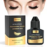 Eyelash Extension Glue Lash Glue 10 ml - 3 Sec Drying time - 5-7 Weeks Retention - Professional Use Only Black Adhesive/for Semi-Permanent Extensions Supplies - Latex Free No Irritation
