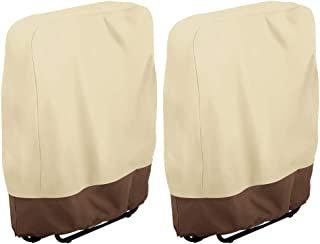 willstar Zero Gravity Folding Chair Cover Waterproof Dustproof UV Resistant Outdoor Folding Chairs Cover 37x32 (2PCS)