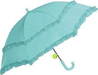 女の子 子供傘 キッズ傘 45cm 手開き 長傘 リフレクター付き フリル付き子供傘