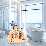 Blue-Yan Multifunktions Aufblasbare Sitz Baby Abendessen Stuhl Aufblasbare Sofa Tragbare Badehocker für Babys Cartoon Tiger Booster