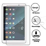 Domxteck (Paquete de 2 Protector de Pantalla para Huawei MediaPad T1 10.0, [Resistencia al Rayado] 9H Dureza Protector de Pantalla de película de Vidrio Templado de Borde