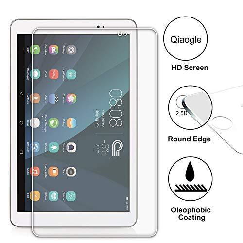 Domxteck (2er-Pack Bildschirmschutzfolie für Huawei MediaPad T1 10.0, [Kratzfestigkeit] 9H Festigkeit 2.5D R&e Kante aus gehärtetem Glas-Bildschirmschutz