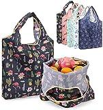 Aufbewahrungstasche Packung mit 5 Stück wiederverwendbare Einkaufstaschen Eco Friendly Einkaufstasche Tragbarer große Kapazitäts-Taschen Faltbare Waschbar Obst Lagerung Beutel for Haushalts Im Freien