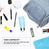 Kulturbeutel Waschtasche Unisex - Acdyion Aufhängen Kosmetiktasche Reise-Tasche für Herren und Frauen für Koffer & Handgepäck Urlaub Waschbeutel Toiletry Bag (Blau) - 6