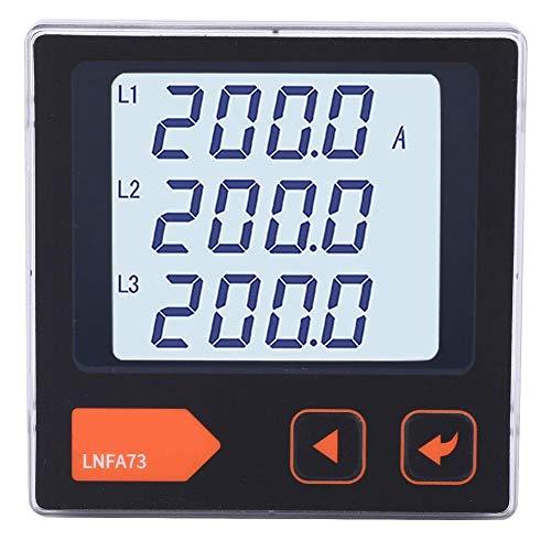 Amperímetro trifásico de voltaje inteligente Medidor de corriente de alta presión Pantalla LCD para industria para fábrica(LNFA73)