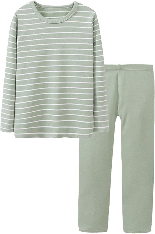 Schbbbta Boys' Girls' Thermal Underwear Pajama Sets with Fleece Lined, 3 - 13 Years