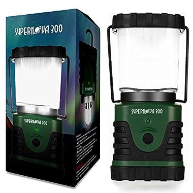 Supernova 300 Lumens Ultra Bright LED Camping and Emergency Lantern