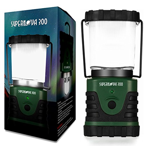 Supernova ultra brillante Camping y emergencia linterna LED, color Forest Green, tamaño 300 Lumens