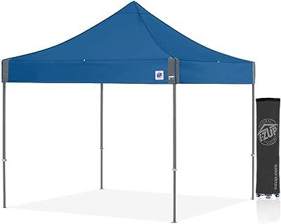 E-Z UP EC3STL10KFSGTRB Eclipse Instant Shelter Pop-Up Tent, Gray Frame and Royal Blue
