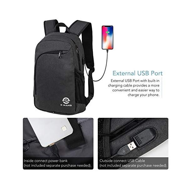 517GZF2F uL. SS600  - E-MANIS Mochila para portátiles Mochila para Ordenador 15.6 Pulgadas USB Mochila de Portátil Bolso Mochilas Escolares…