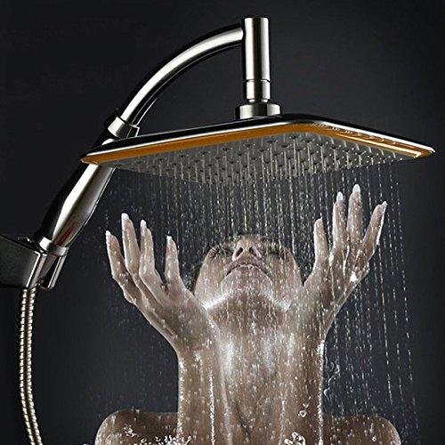 Bazaar 9 inch vierkante thin draaibare top regen douchekop roestvrij staal waterbesparende druksproeier