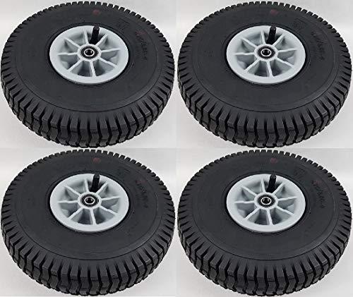 Sparset: Rad, Luft-Reifen f. Tretfahrzeuge, Bollerwagen Ø260mm 4.10/3.50-4, 4St.