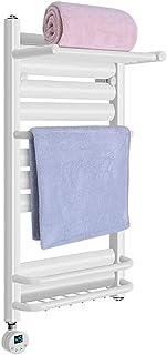 ZZZMJ Calefactor Toallero Acero Inoxidable Bajo Consumo Radiador EléCtricos 400 Watios Secatoallas En Color Blanco DiseñO Moderno Tendedero Interior,80cm