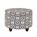 ZJN-JN Tavolo Pattino comodo divano bagagli Ottomano rotondo Tavolino multiuso poggiapiedi Sgabello for Camera da letto e soggiorno di stoccaggio for Corridoio Soggiorno (colore, formato: 61x43cm)