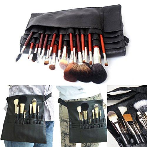 Yanshan 22 poches artiste professionnel maquillage pinceau pochette sac sangle titulaire de la ceinture cas cosmétique